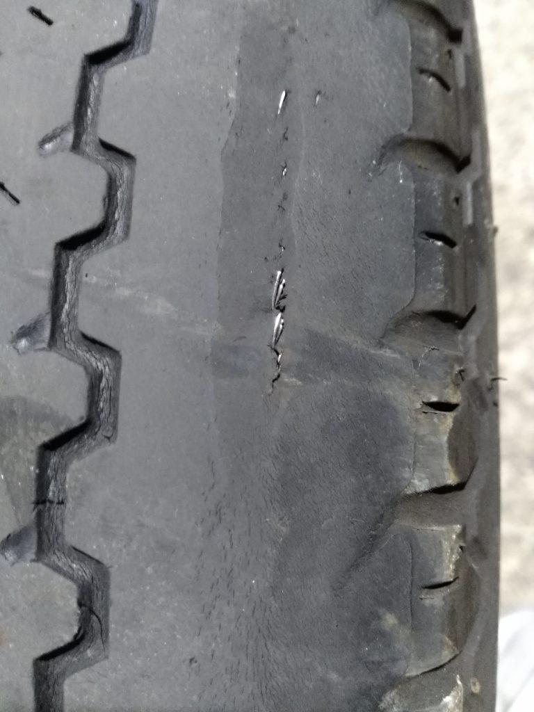 タイヤの劣化