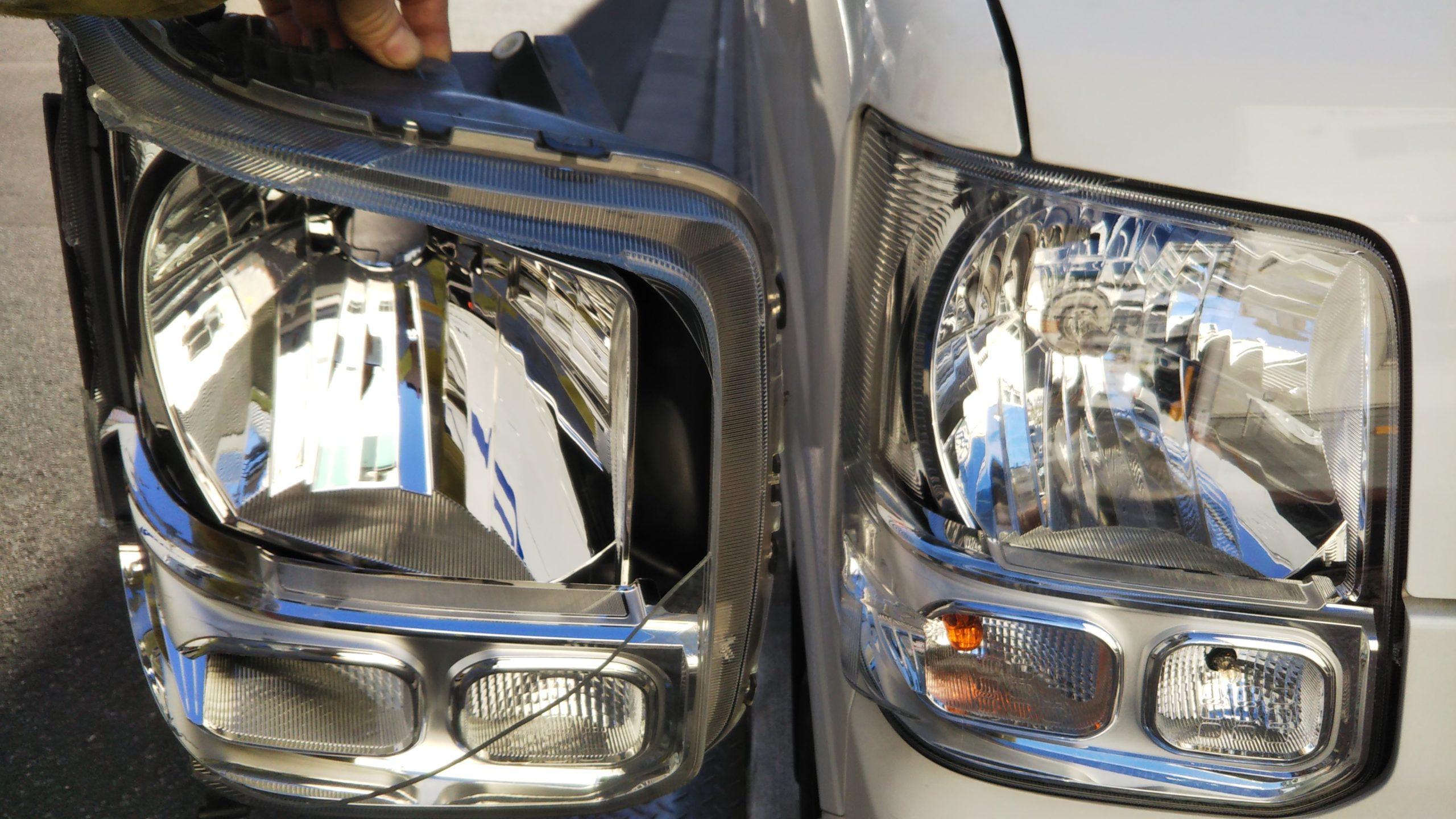 車のライト廻りの点検の実施
